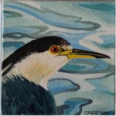 Jane Zadow Bird Canvas
