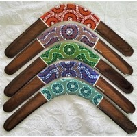 Family pack of 3 dot art returning boomerangs