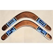 Tracks Design | Blue Returning Boomerang |16 or 18 inch wide